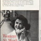 """1961 LIFE Circulation Company Ad """"Woman At Work"""""""