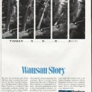 """1965 Employers Mutuals of Wausau Ad """"Timber"""""""
