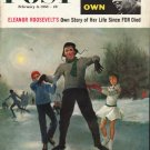 """1958 Saturday Evening Post Cover Page """"Eleanor Roosevelt"""" ~ February 8, 1958"""