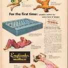 """1948 Englander Mattress Ad """"For the first time"""""""