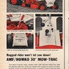"1965 AMF Mow-Trac Ad ""Rugged rider"""
