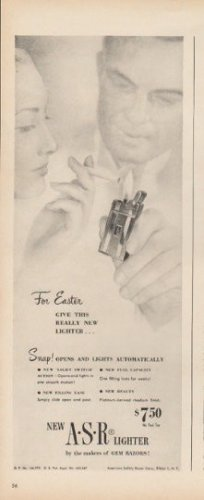 """1948 American Safety Razor Lighter Ad """"For Easter"""""""
