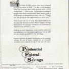 """1963 Prudential Federal Savings Ad """"Thank You."""""""