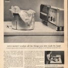 "1963 General Electric Washing Machine Ad ""Mini-Basket"""