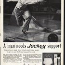 "1961 Jockey Briefs Ad ""Jockey support"""