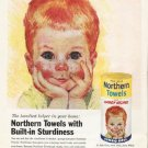 """1961 Northern Towels Ad """"Built-in Sturdiness"""""""