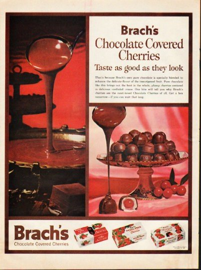 """1961 Brach's Candy Ad """"good as they look"""""""