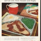 "1961 Swanson TV Dinner Ad ""tender turkey"""