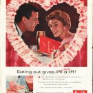 "1958 Swift's Premium Ham Ad ""Eating out"""
