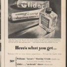 """1948 Williams Shaving Cream Ad """"act quickly"""""""