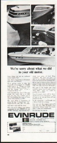 """1965 Evinrude Ad """"your old motor"""" ~ (model year 1965)"""