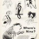 """1961 Albert Hirschfeld Article """"Where's Nina"""""""