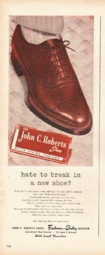 "1948 John C. Roberts Shoes Ad ""break in a new shoe"""