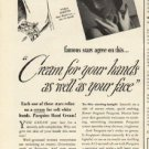 "1948 Pacquins Hand Cream Ad ""Cream for your hands"""