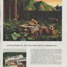 "1958 Weyerhaeuser Timber Company Ad ""growing Douglas fir"""