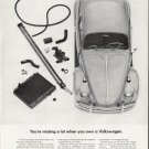 """1965 Volkswagen Ad """"missing a lot"""" ~ (model year 1965)"""