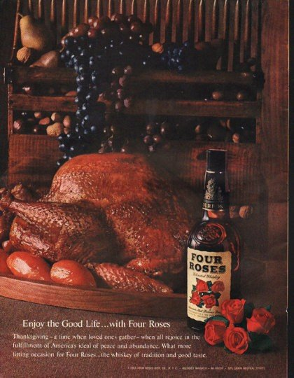 """1961 Four Roses Whiskey Ad """"Good Life"""""""