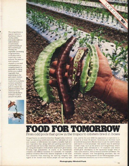 "1980 Food For Tomorrow Article ""odd pods"""