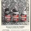"1961 Franklin Peanuts Ad ""invite the Franklins"""