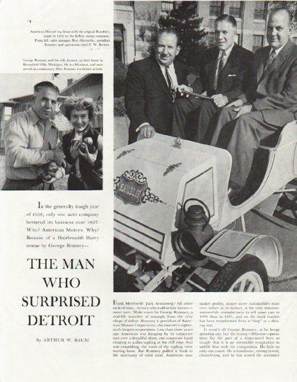 "1958 George Romney Article ""Man Who Surprised Detroit"""