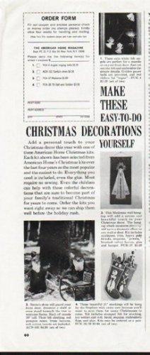 """1964 American Home Christmas Ad """"Christmas Decorations"""""""