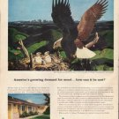"1961 Weyerhaeuser Company Ad ""demand for wood"""