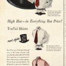 "1948 TruVal Shirts Ad ""High Hat"""