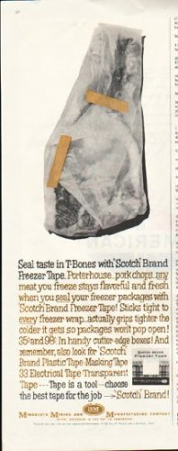 "1961 Scotch Brand Ad ""Freezer Tape"""