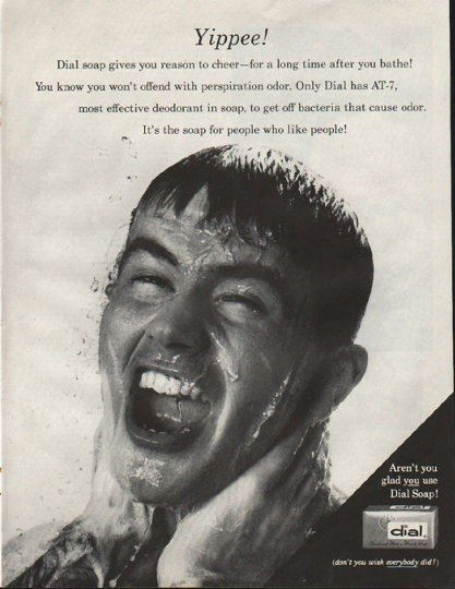 """1961 Dial Soap Ad """"Yippee"""""""