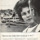 """1961 Foundation for Commercial Banks Ad """"go so far"""""""