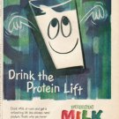 "1961 American Dairy Association Ad ""Protein Lift"""