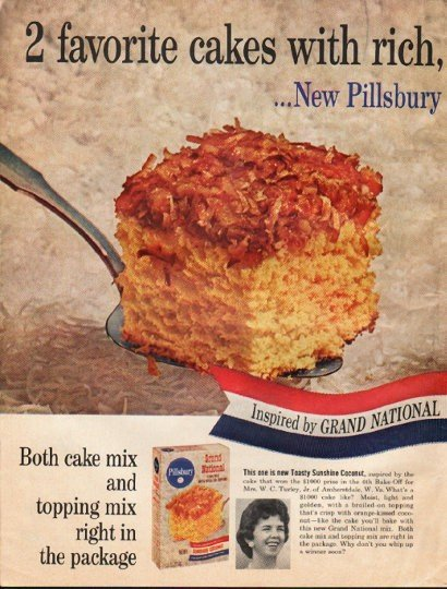 """1961 Pillsbury Ad """"broil-on toppings"""""""