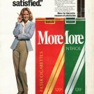 "1980 More Cigarettes Ad ""I'm More satisfied"""