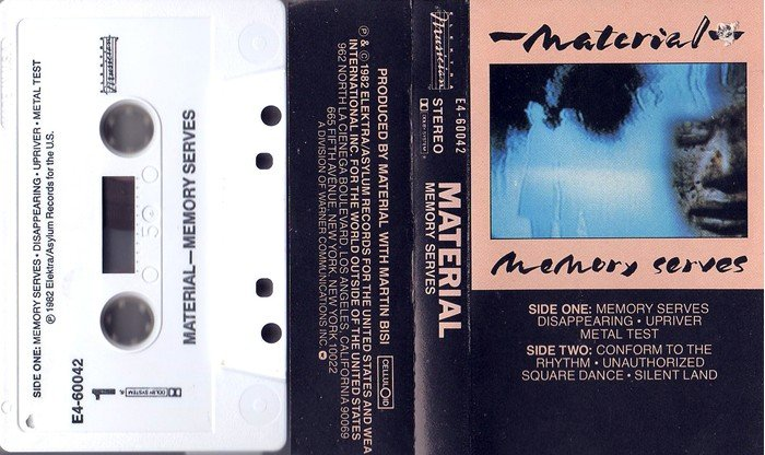 Funk Rock) Material Memory Serves Sealed op '82 Cassette