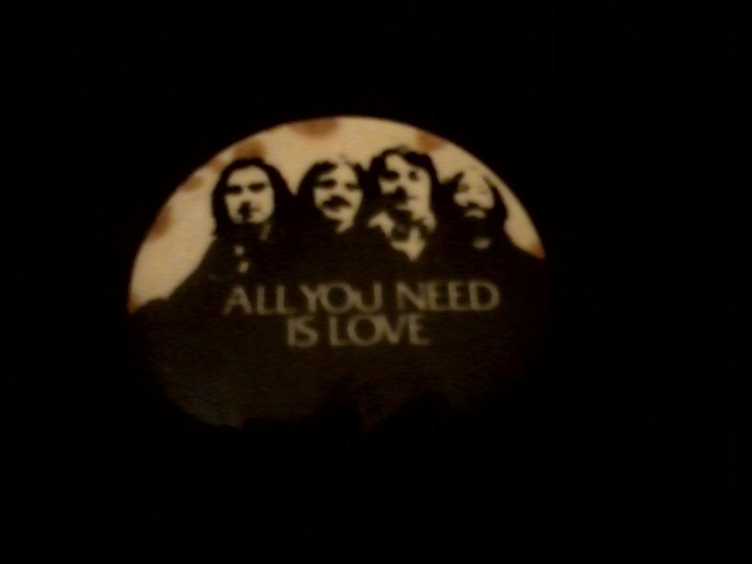 Beatles All You Need Is Love OLD op '80s Promo Pinback