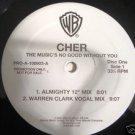 "Club) Cher The Music's No Good... NEW Promo WLB 2 12"" PS DJ Set"