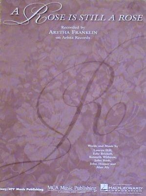 R&B) Aretha Franklin A Rose Is a Rose VG+ Original '92 PS Sheet Music