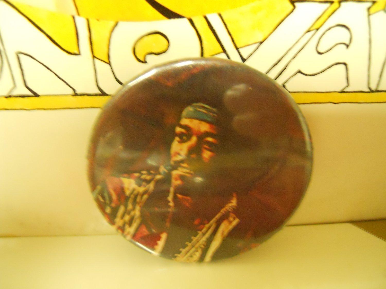 Jimi Hendrix VG 1970s Color Headshot Pinback