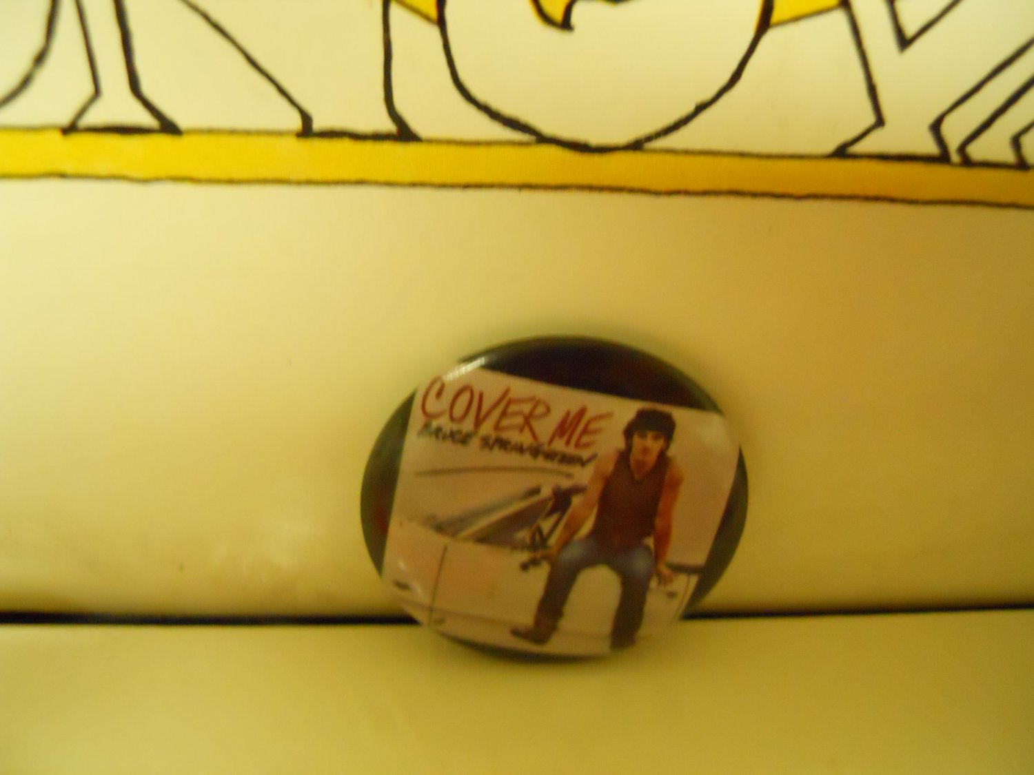 Bruce Springsteen Cover Me New op '84 CBS Promo Pinback