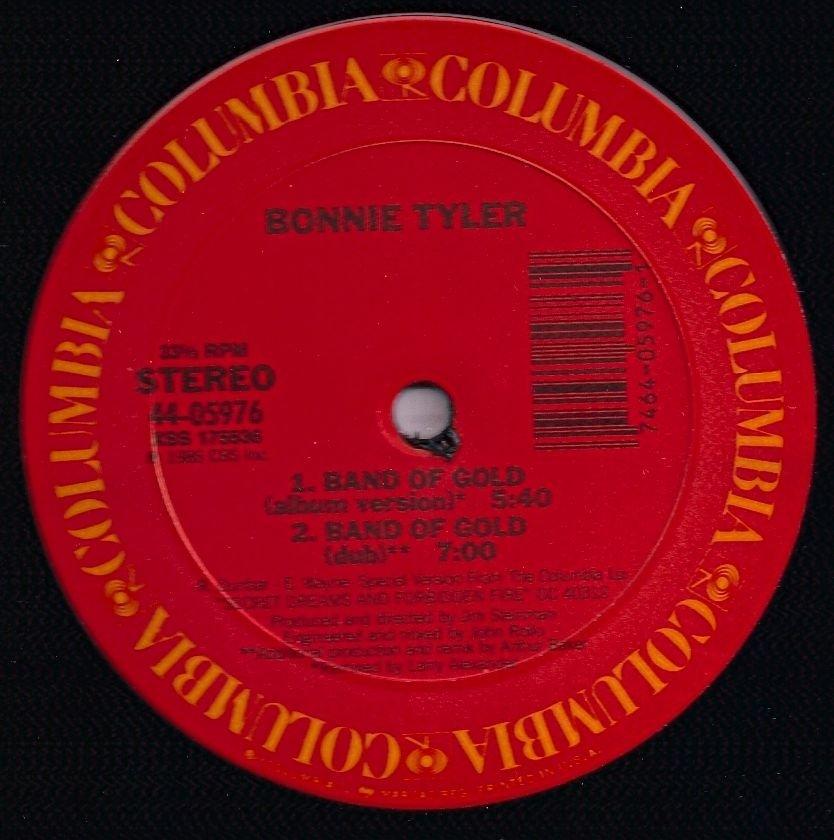 "pop) bonnie tyler band of gold VG+ dj dance12"""