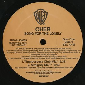"""pop club) cher song for the lonely 2 12"""" wlb dj set"""