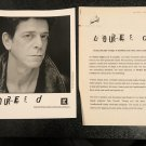 Velvet Underground Punk) Lou Reed Perfect Night In London op '98 Press Kit + Photo