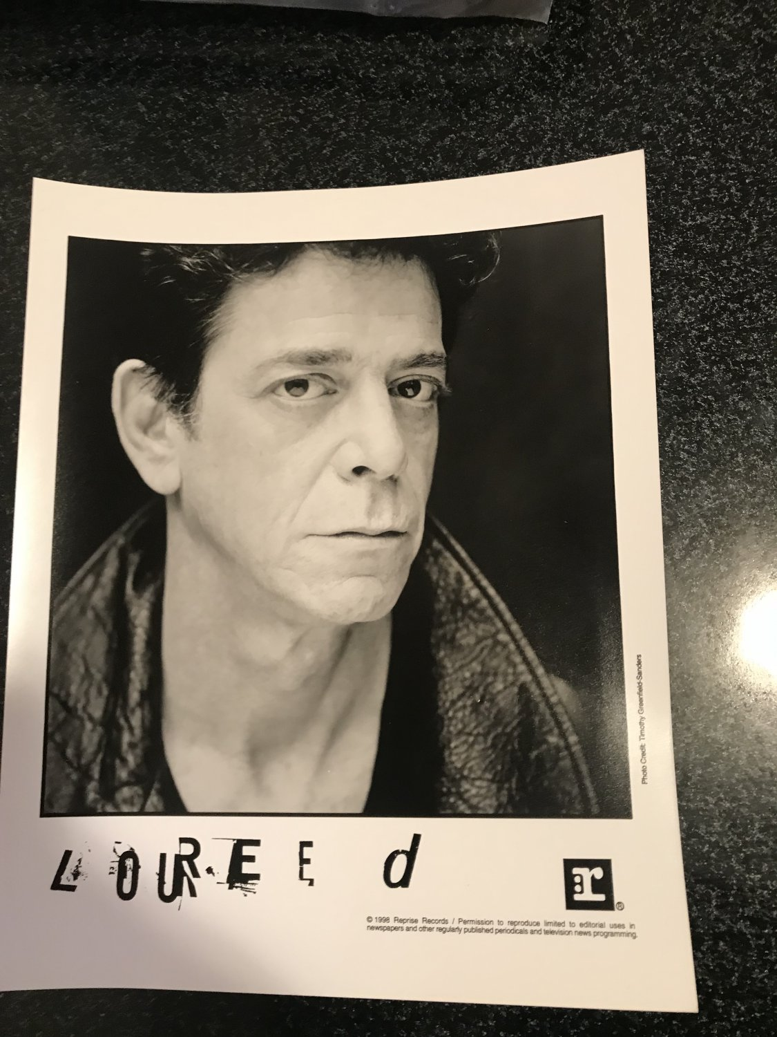 Velvet Underground Punk) Lou Reed Perfect Night In London New op '98 Press Photo