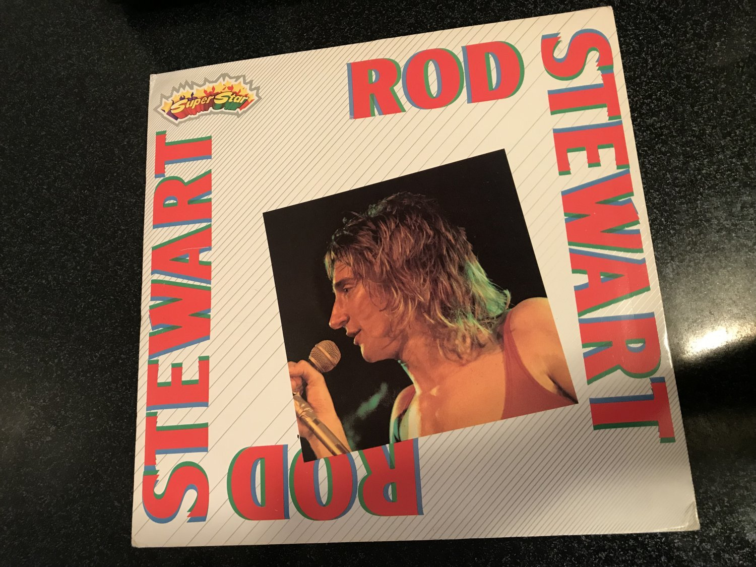 Faces) Rod Stewart Self Titled New op '80s Italy Super Star Series LP + Booklet