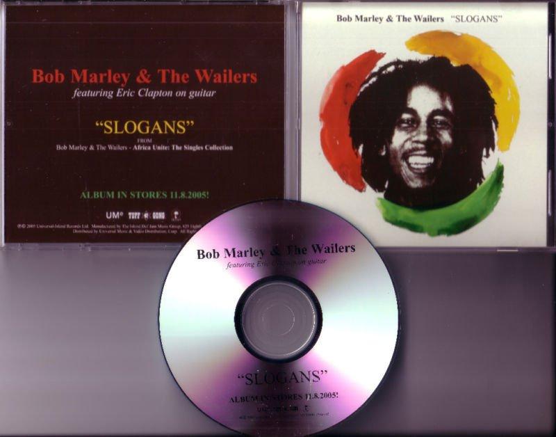 bob marley & the wailers slogans rare promo reggae cd with eric clapton