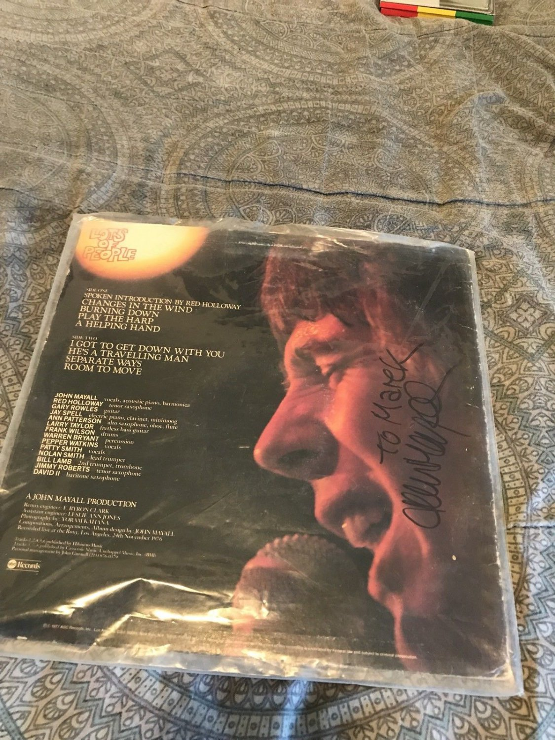 john mayall lots of people 1977 blues LP AUTHENTIC SIGNED by john mayall