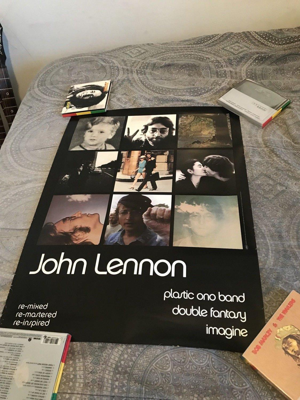 beatles] john lennon 1999 cd remasters promo poster
