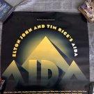 elton john aida rare broadway promo poster