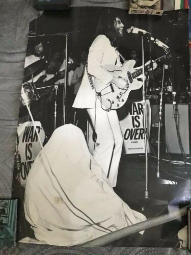 beatles] john lennon & yoko live 1969 rare 1970s uk poster