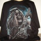 Reaper Skull With Guitar NEW 3xl Tee GLOWS [Metal]